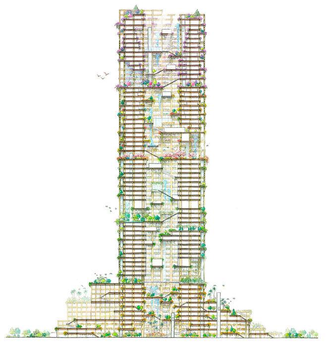 drewniany wieżowiec 3