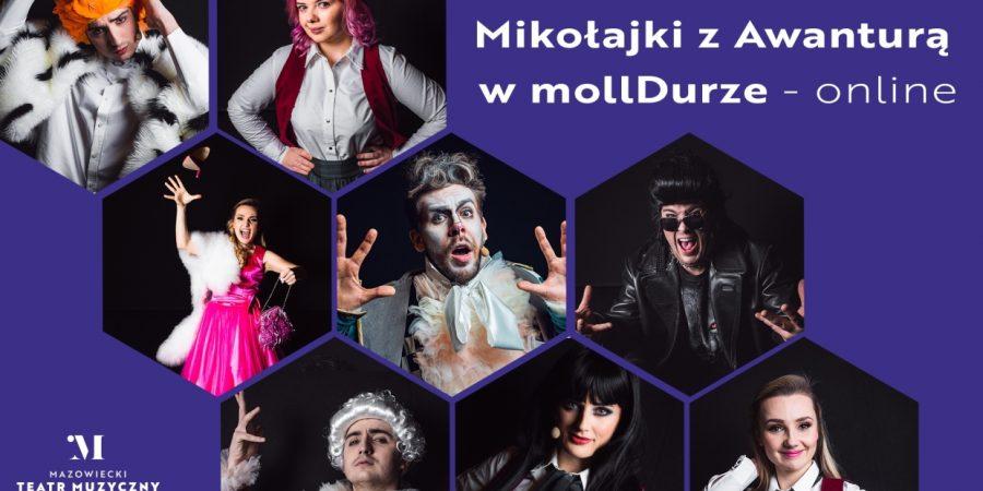 """Dla najmłodszych: """"Mikołajki z Awanturą w mollDurze online""""."""